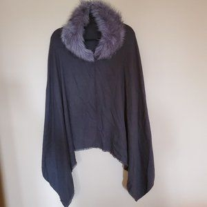 Eyeful Faux Fur Shawl Cape